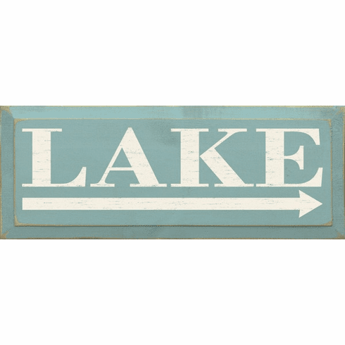 Beach & Lake Sign...Lake (Right Arrow)