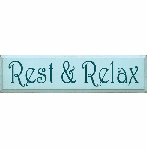 Beach & Lake Sign...Rest & Relax