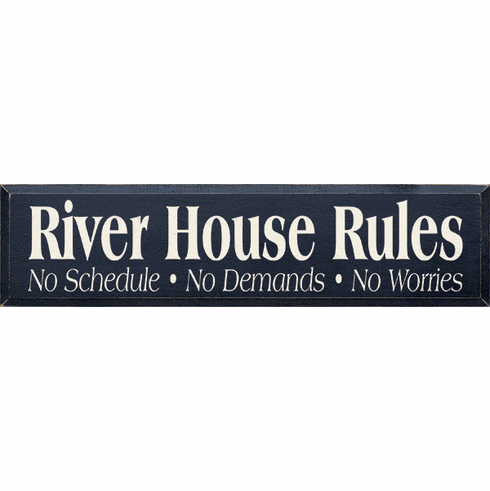 Beach & Lake Sign...River House Rules