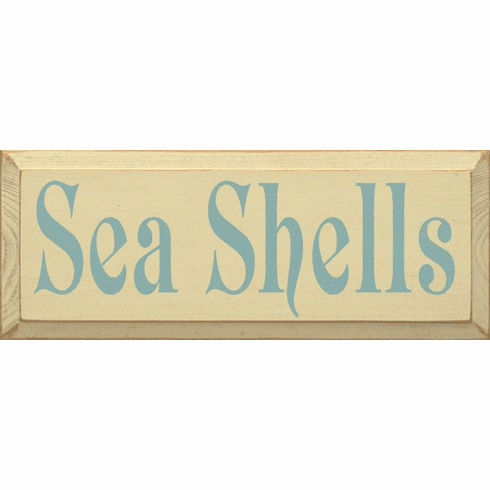 Beach & Lake Sign...Sea Shells