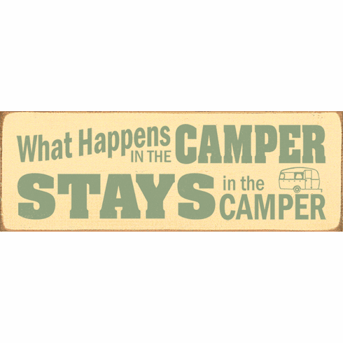 Beach & Lake Sign...What Happens In The Camper Stays In The Camper