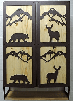Bear and Deer Utility Cabinet