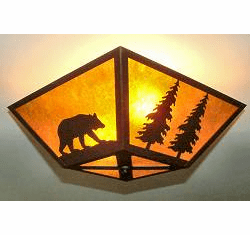 Bear and Tree Square Ceiling Light