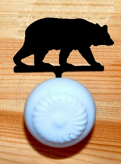 Bear Drawer Knob Backing Plate in Style 1