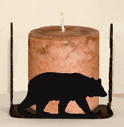 Bear Four Sided Candle Holder