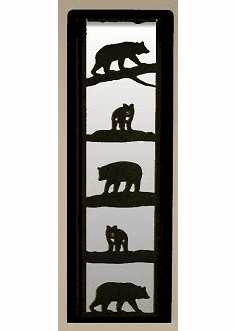 Bear Large Accent Mirror Wall Art