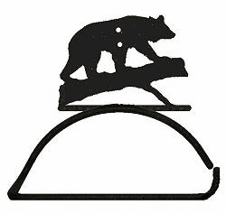 Bear on a Log Design Paper Towel/Toilet Paper Holder