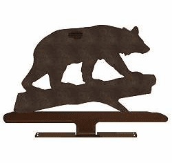 Bear on a Log Mailbox Top