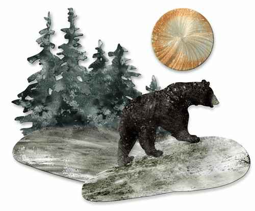 Bear Path Metal Wall Art