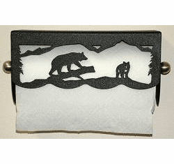 Bear Scenery Paper Towel Holder