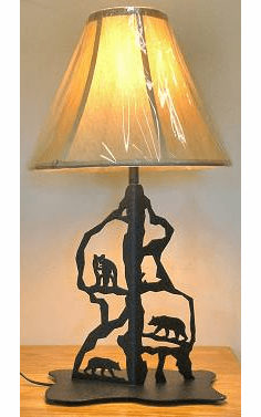 Bear Scenery Style Table Lamp