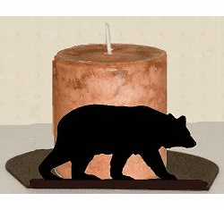 Bear Silhouette Candle Holder