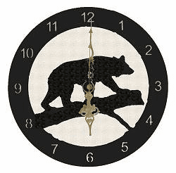 Bear Smooth Edge Rustic Clock