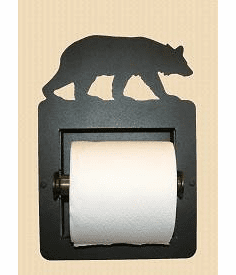 Bear Toilet Paper Holder (Recessed)