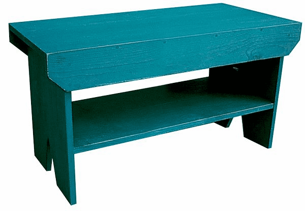 Bench with Shelf, 36 inch wide