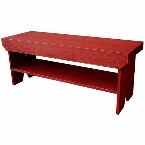 Bench with Shelf, 48 inch wide