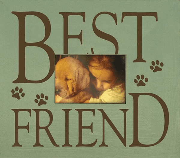 Best Friend with Paw Prints Frame