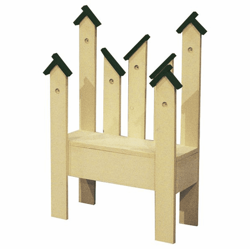 Birdhouse Planter Bench, 25 inch wide