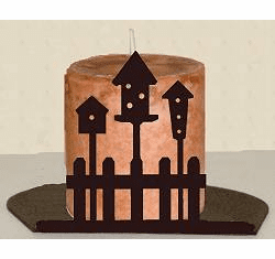Birdhouse Silhouette Candle Holder