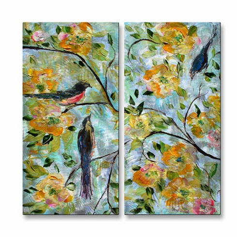 Birds and Blooms Wall Art