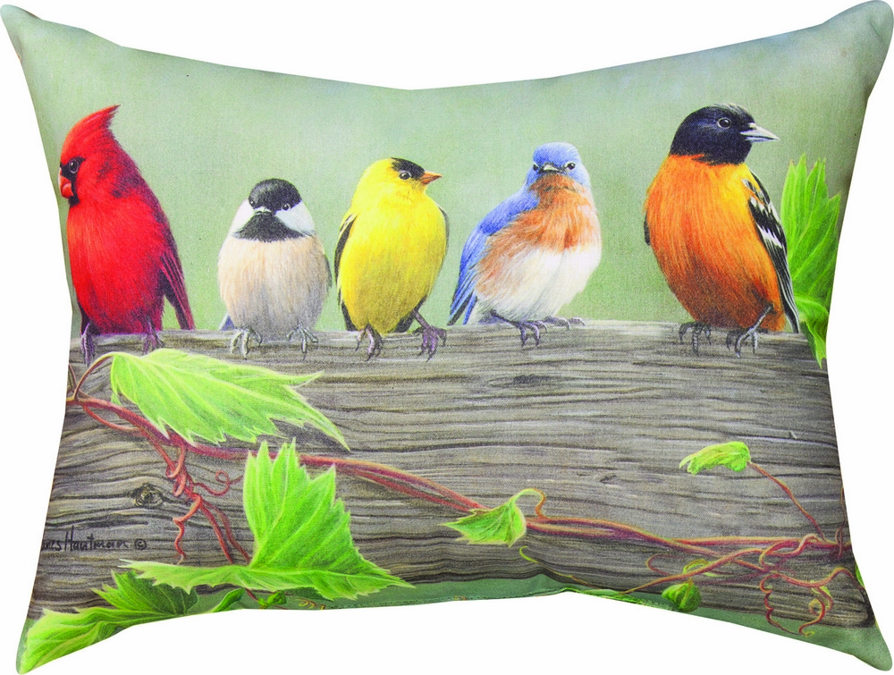 Birds on a Line I Climaweave Pillow