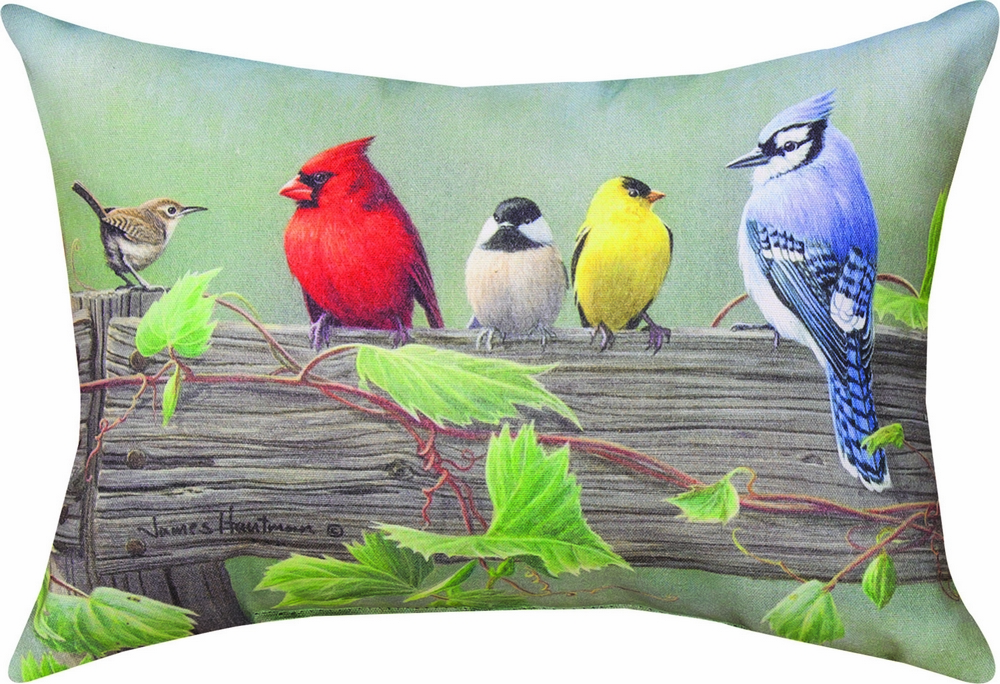 Birds on a Line II Climaweave Pillow
