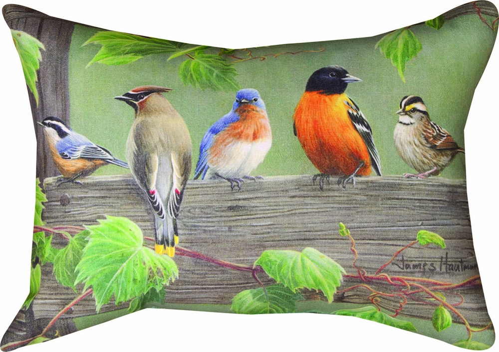 Birds on a Line III Climaweave Pillow