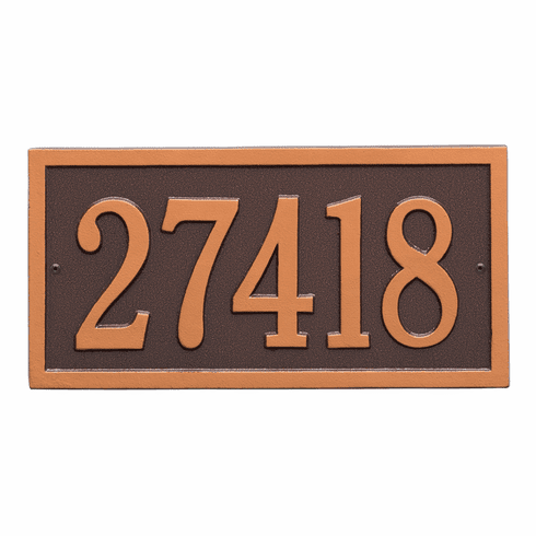 Bismark Standard Wall One Line Plaque in Antique Copper