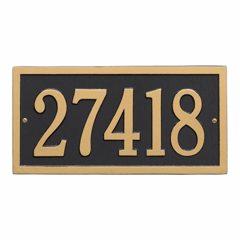 Bismark Standard Wall One Line Plaque in Black and Gold