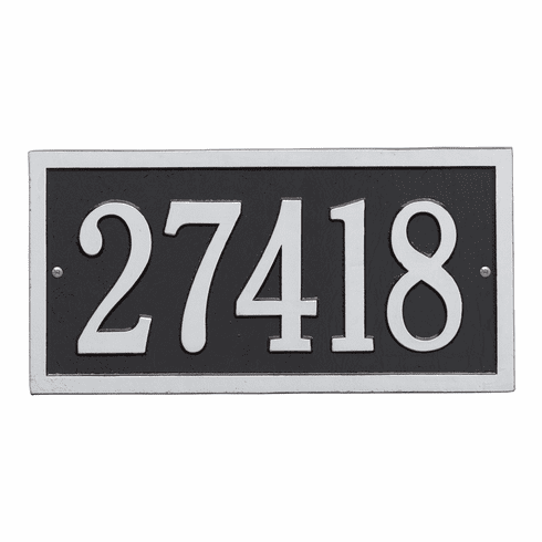 Bismark Standard Wall One Line Plaque in Black and Silver