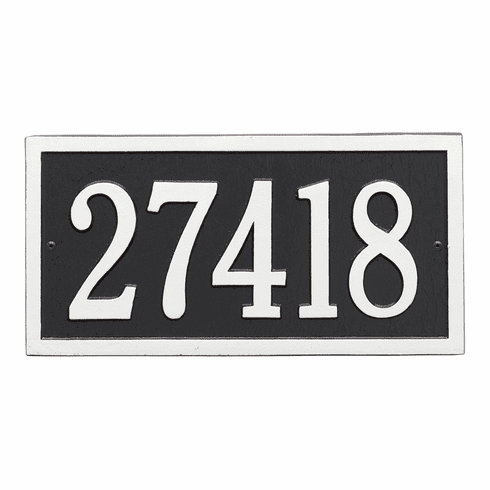 Bismark Standard Wall One Line Plaque in Black and White