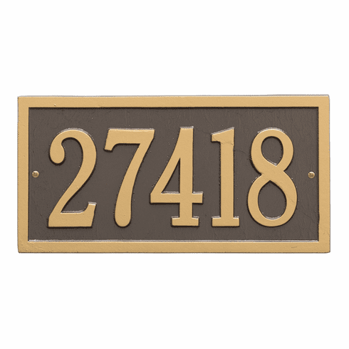 Bismark Standard Wall One Line Plaque in Bronze and Gold