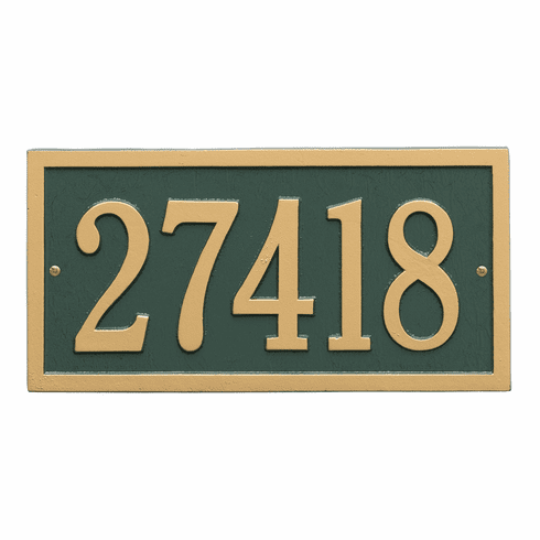 Bismark Standard Wall One Line Plaque in Green and Gold