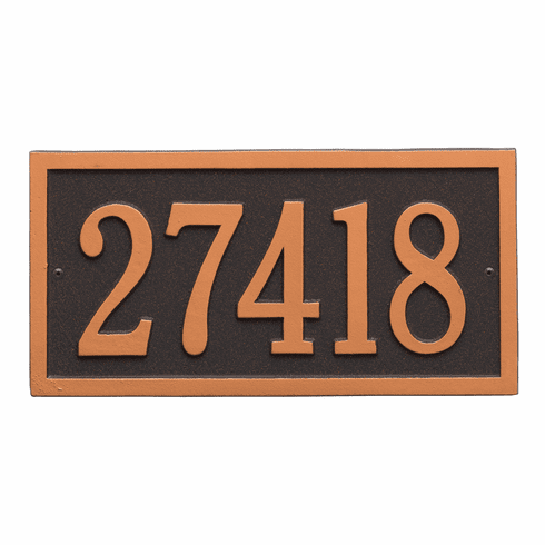 Bismark Standard Wall One Line Plaque in Oil Rubbed Bronze