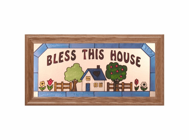 �Bless this House� Stained Glass Art Glass