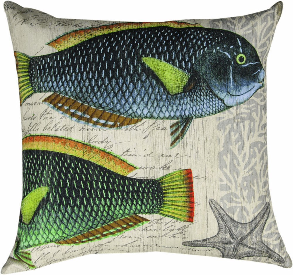 Blue Crab III Fish Climaweave Pillow