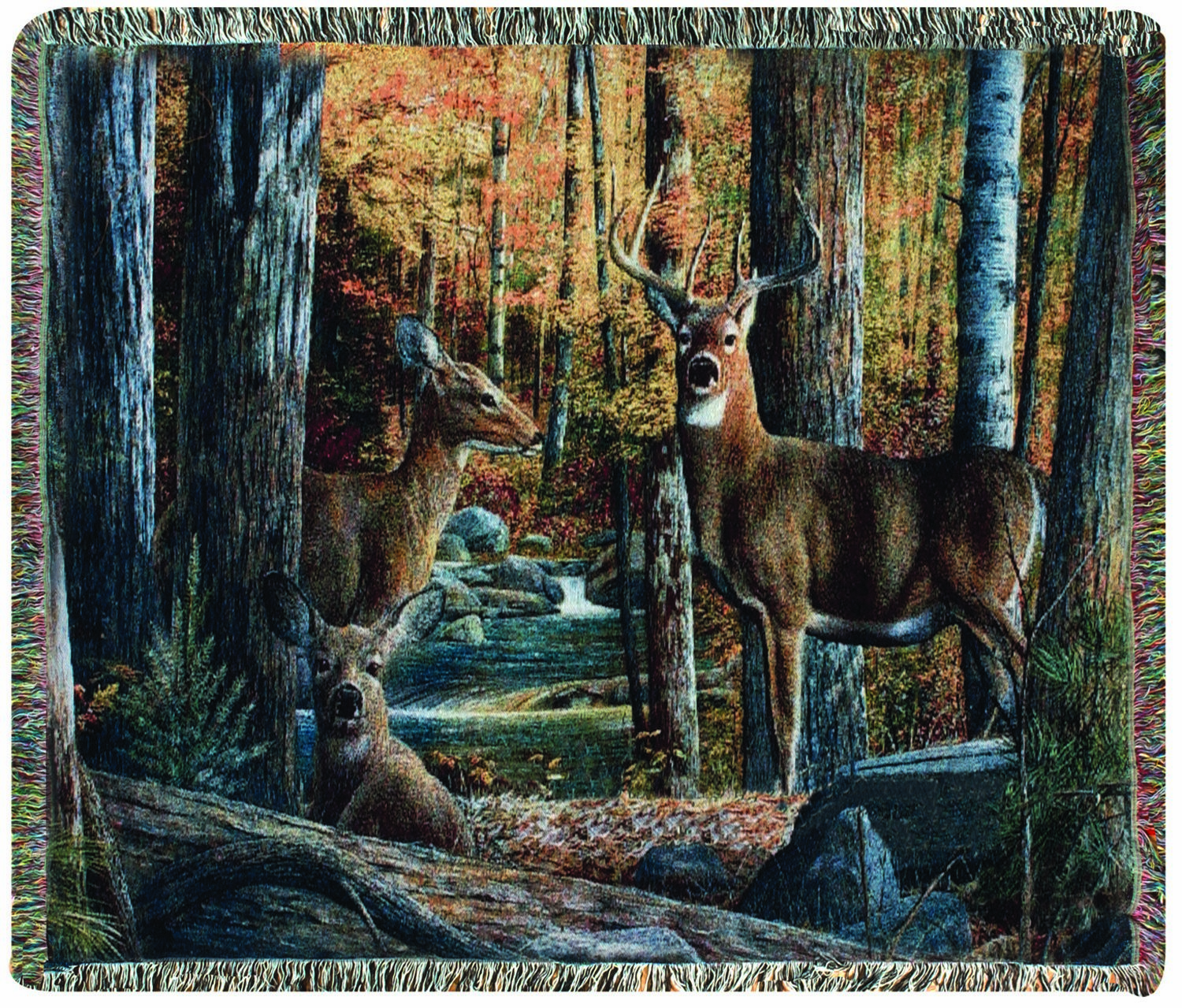 Broken Silence II Stag Tapestry Throw