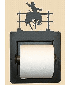 Bucking Bonco Toilet Paper Holder (Recessed)