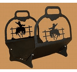 Bucking Bronco Big Lodge Log Holder