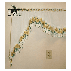 Bucking Bronco Curtain Rod Holder Pair