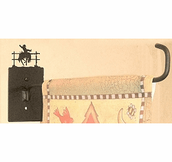 Bucking Bronco Garden Flag Holder