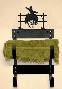 Bucking Bronco Multiple Towel Rack