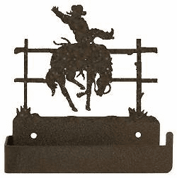 Bucking Bronco One Piece Toilet Paper Holder