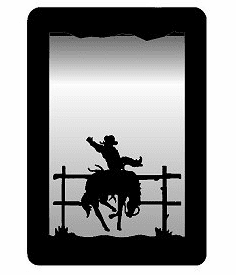 Bucking Bronco Small Accent Mirror Wall Art
