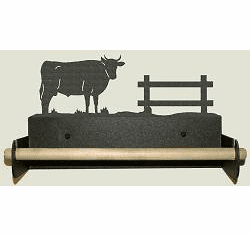 Bull Paper Towel Holder With Wood Bar