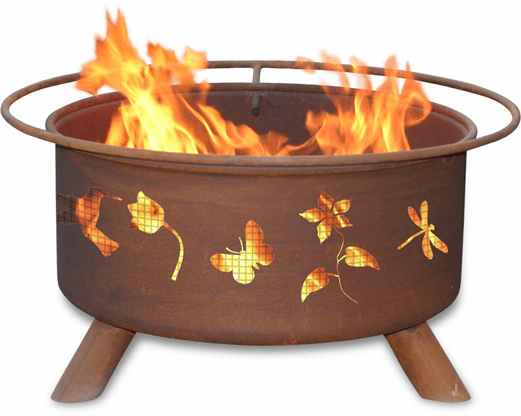 Butterflies & Hummingbird Fire Pit Design - Fire Pit Kit