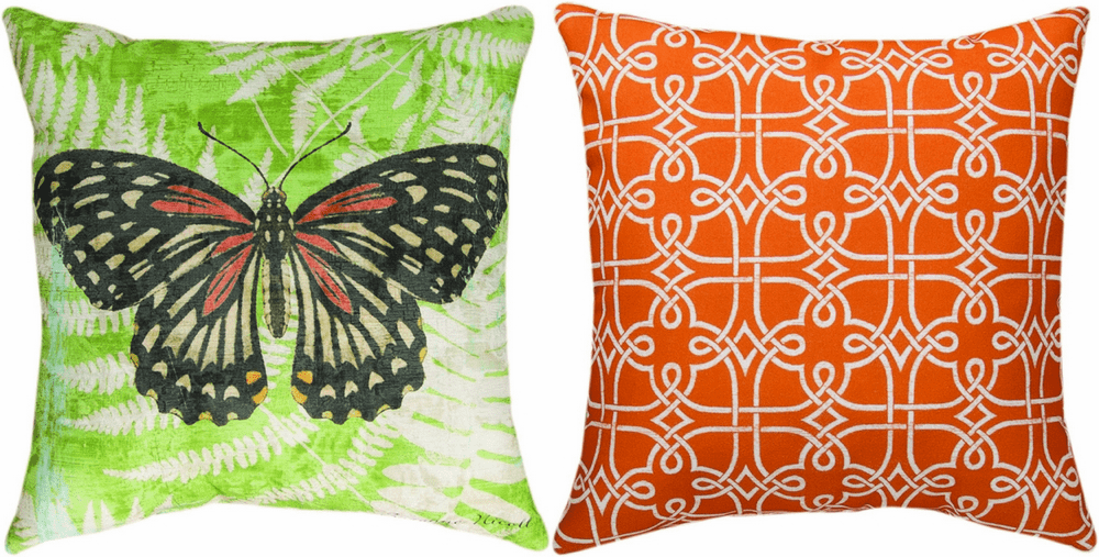 Butterfly Ferns Climaweave Reversible Pillow