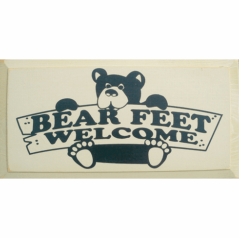 Cabin & Cottage Sign...Bear Feet Welcome