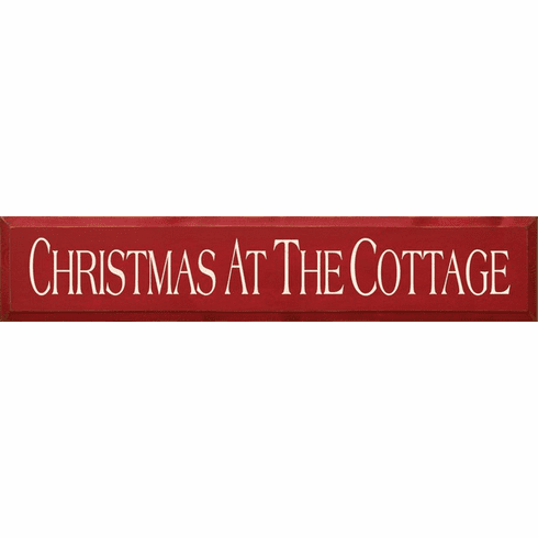 Cabin & Cottage Sign...Christmas At The Cottage