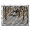 Cabin in the Woods Metal Wall Art
